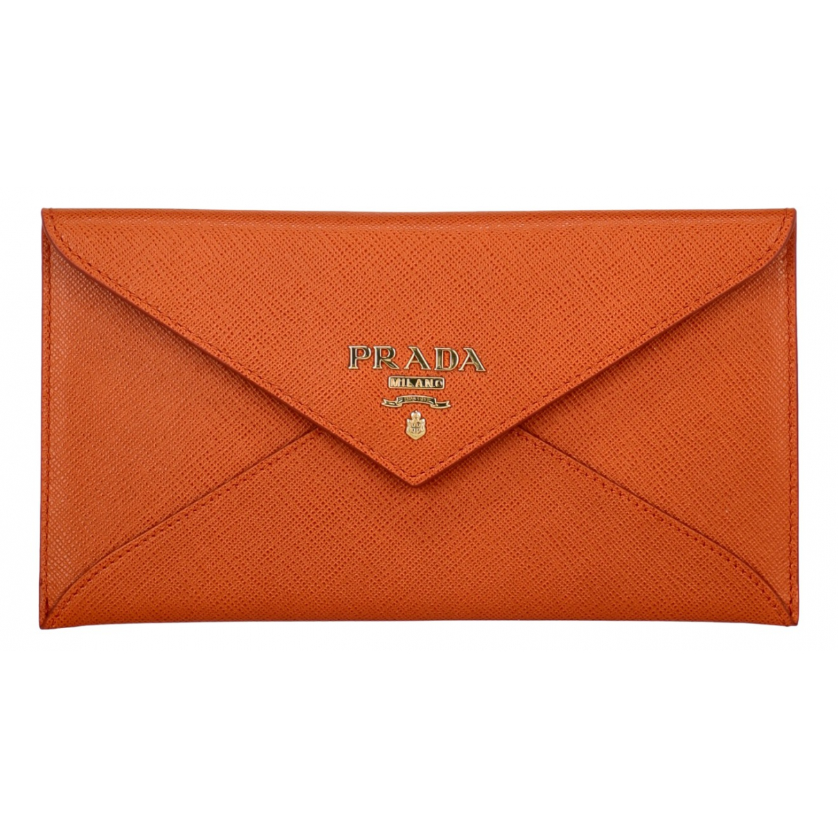 Prada \N Orange Leather wallet for Women \N