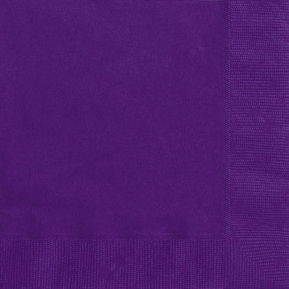 Party Luncheon Napkins Solid Color 33*33cm 13*13In 2-Ply Deep Purple 20Pcs