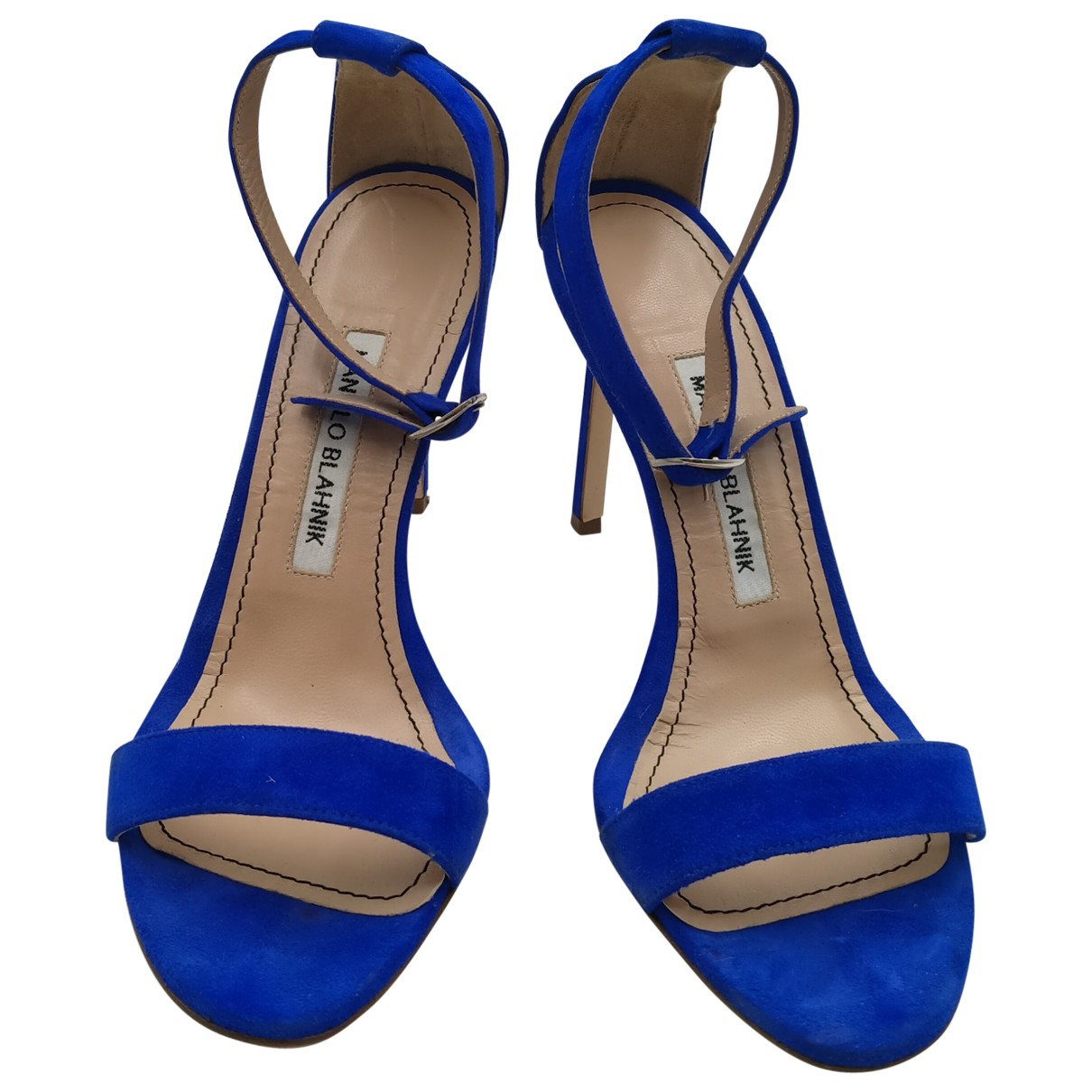 Manolo Blahnik \N Blue Leather Sandals for Women 36 IT