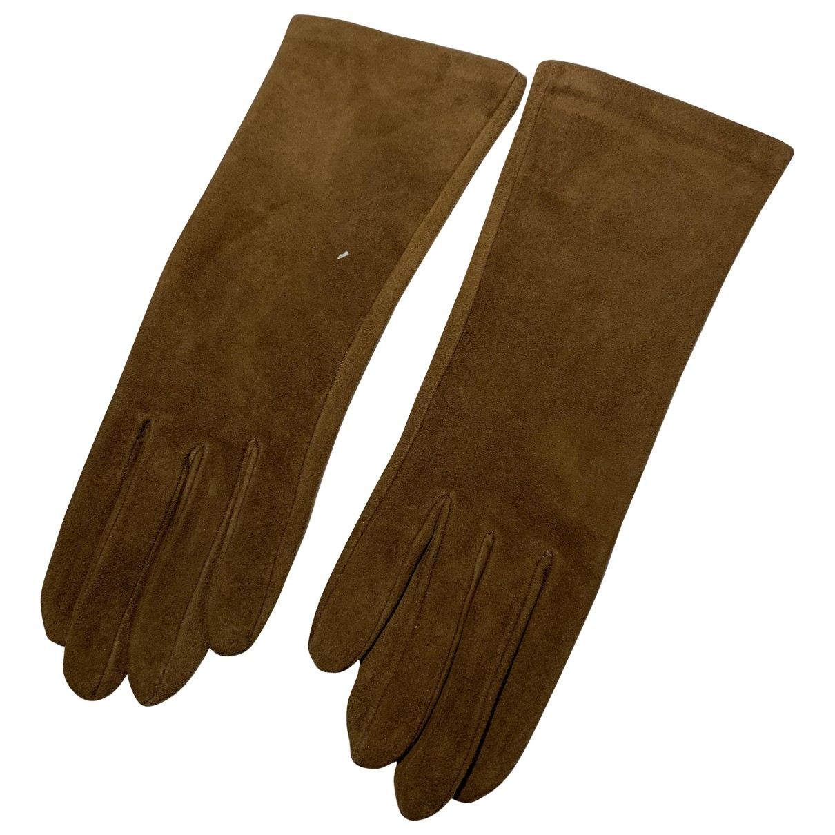 Hermès \N Camel Suede Gloves for Women 6.5 Inches