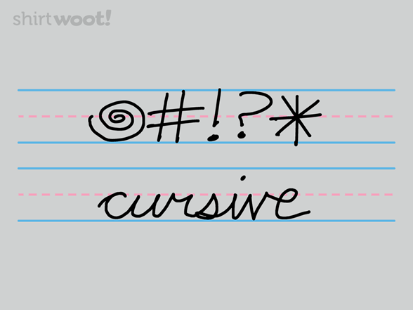 Curse Cursive T Shirt