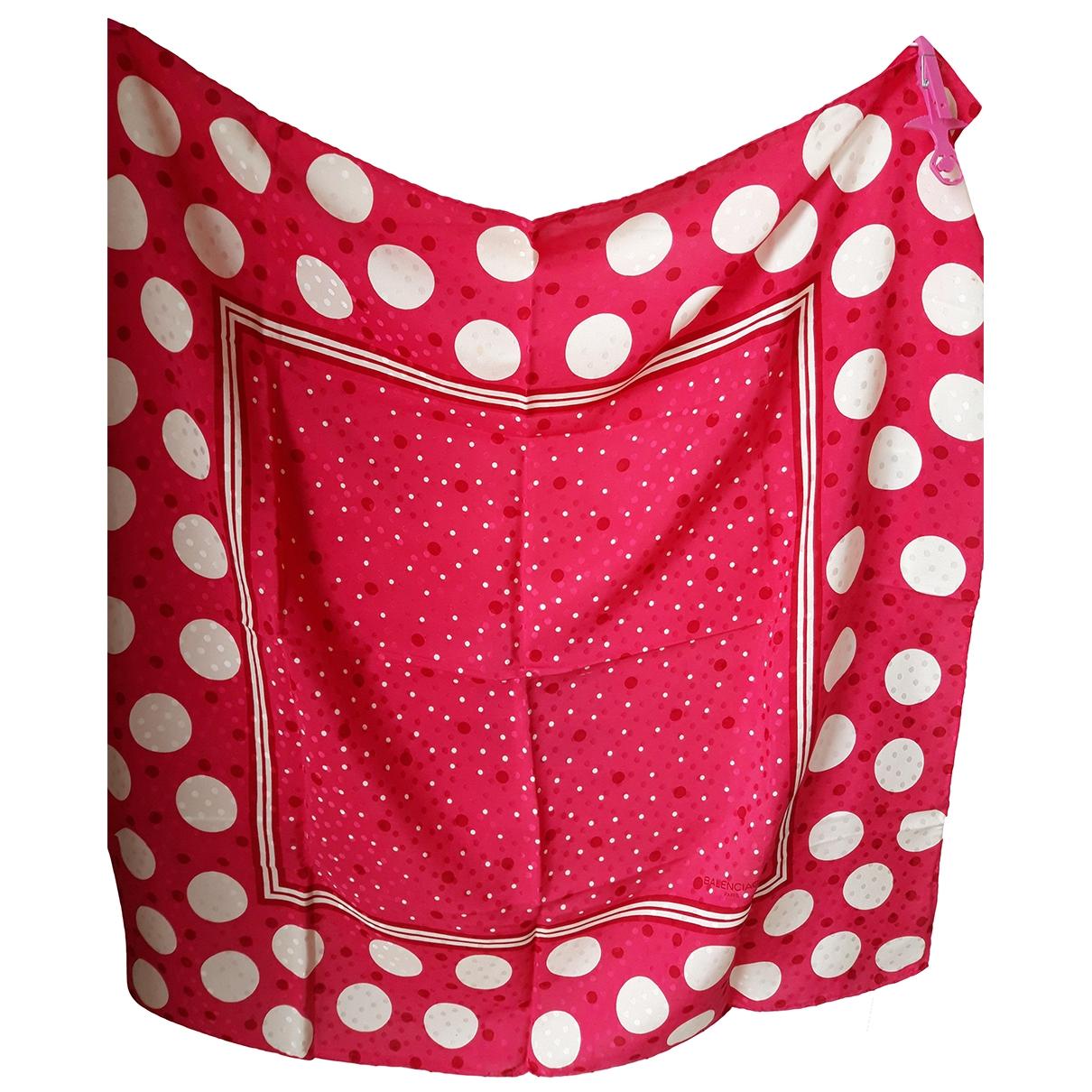 Balenciaga \N Pink Silk scarf for Women \N