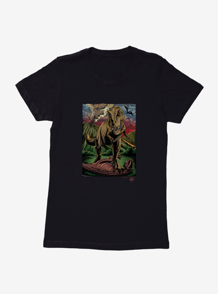 Jurassic World Volcano Explosion Womens T-Shirt