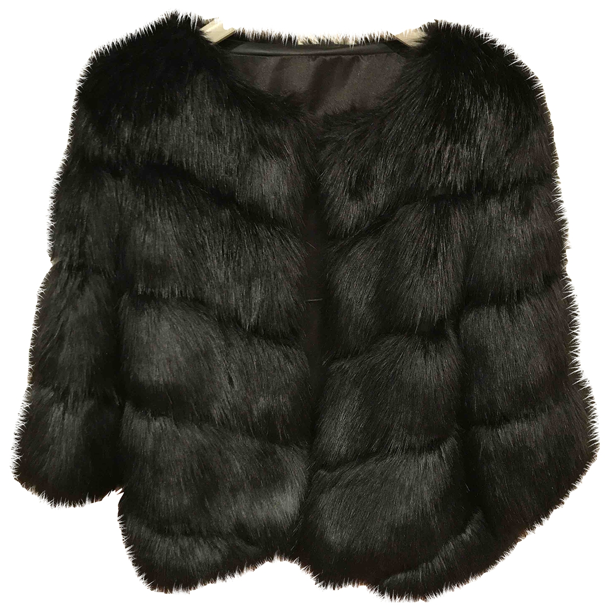 Non Signé / Unsigned \N Black Faux fur coat for Women L International