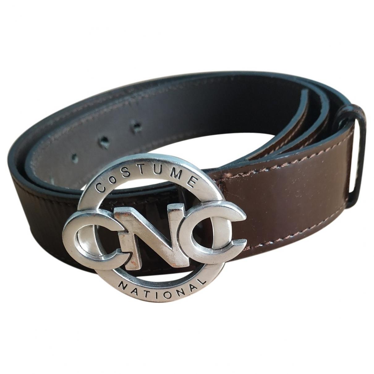 Costume National \N Brown Leather belt for Men 95 cm