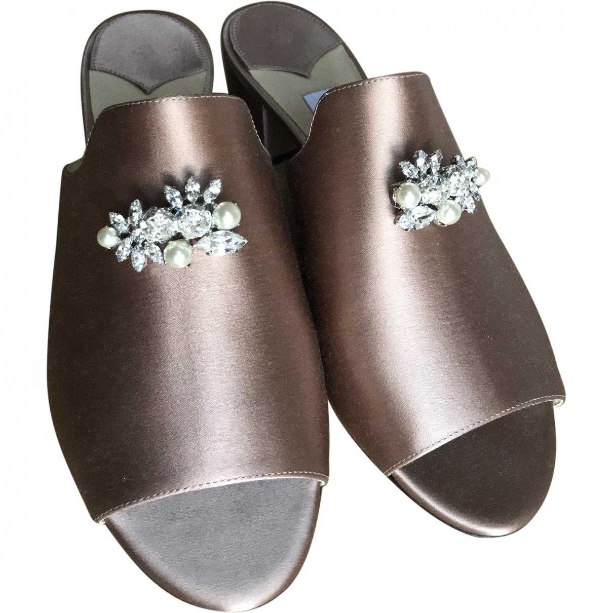 Jimmy Choo \N Pink Cloth Sandals for Women 37.5 EU