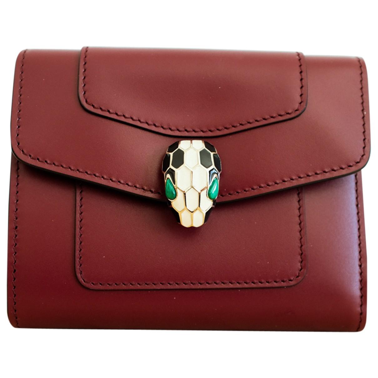 Bvlgari Serpenti Burgundy Leather wallet for Women \N