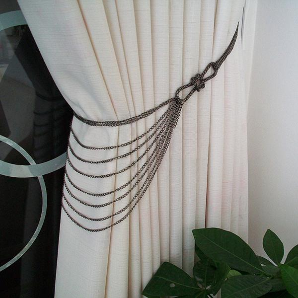 Chic Iron Chain Decorative Curtain Tiebacks