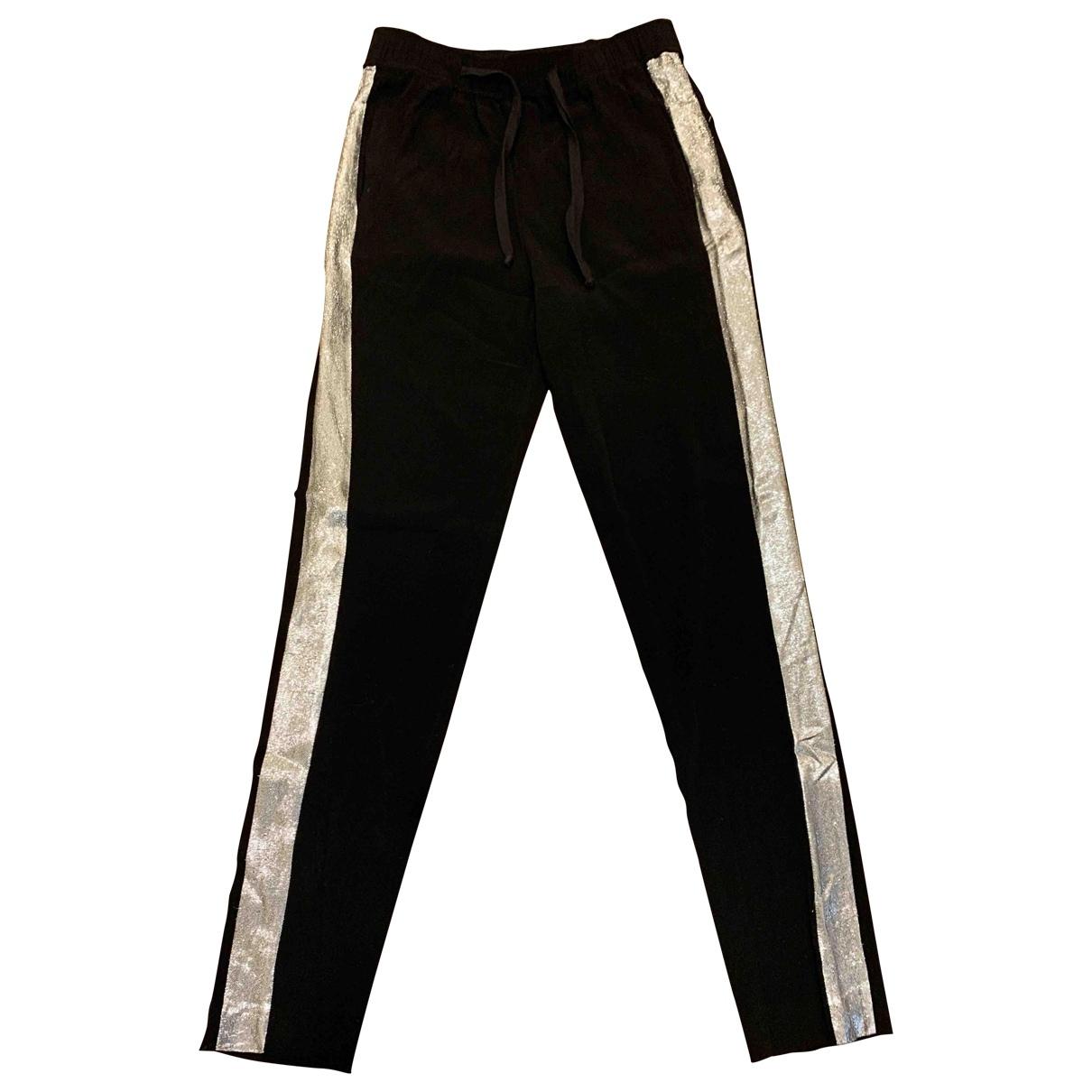 Sandro \N Black Trousers for Women 1 0-5