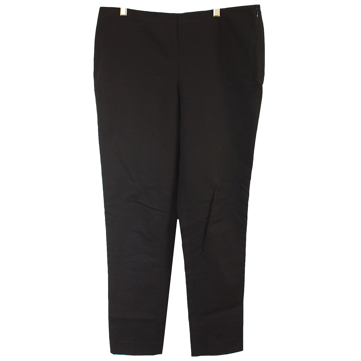 Vince Camuto \N Black Cotton Trousers for Women 10 US