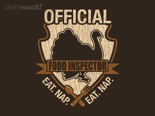 Food Inspector T Shirt