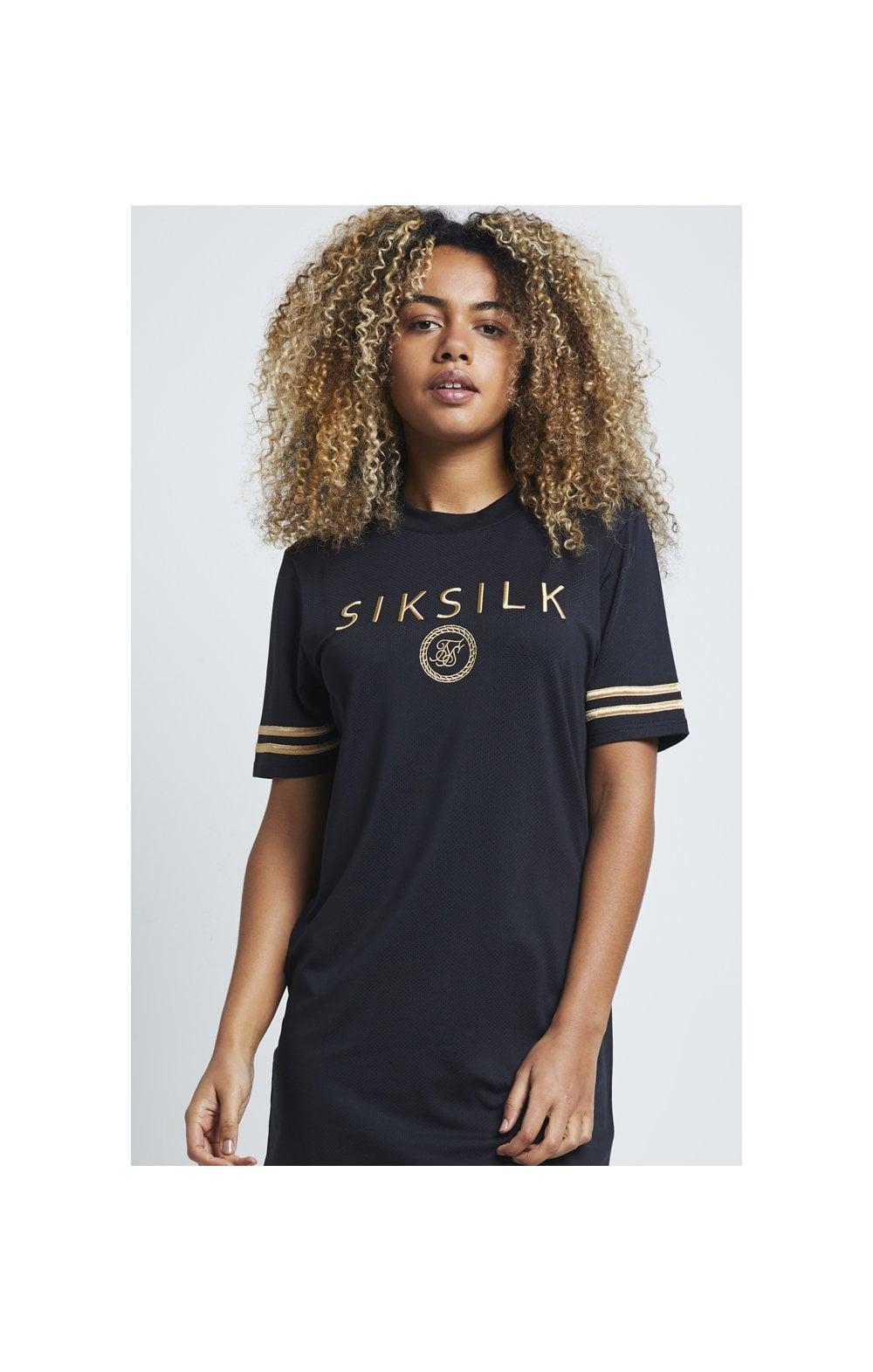 SikSilk Mesh T-Shirt Dress - Black  WOMEN SIZES: 8-XS