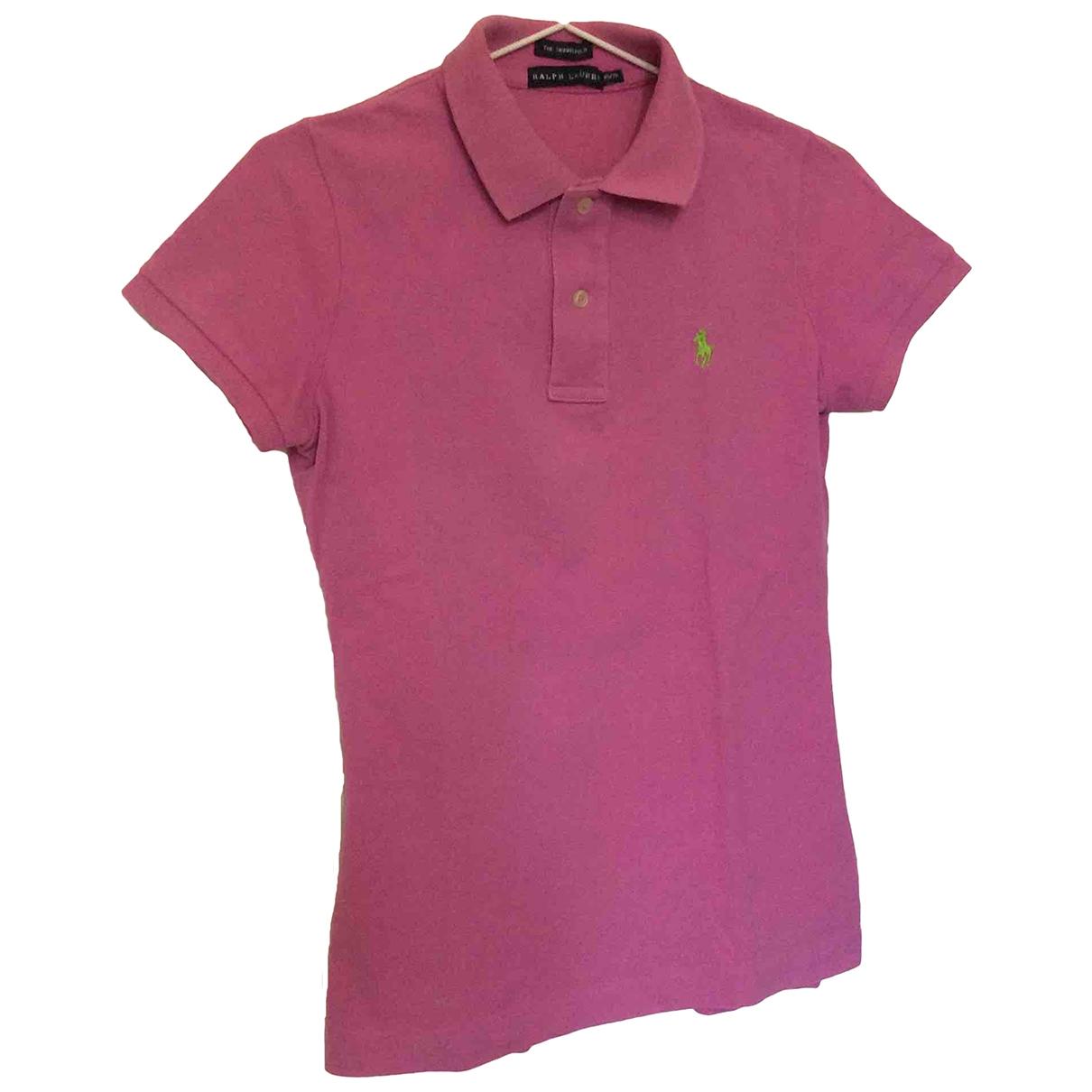Polo Ralph Lauren Polo cintré manches courtes Purple Cotton  top for Women XS International