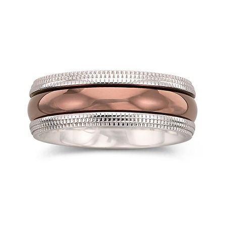 Mens Ring, 8mm Comfort Fit Band, 10 1/2 , No Color Family