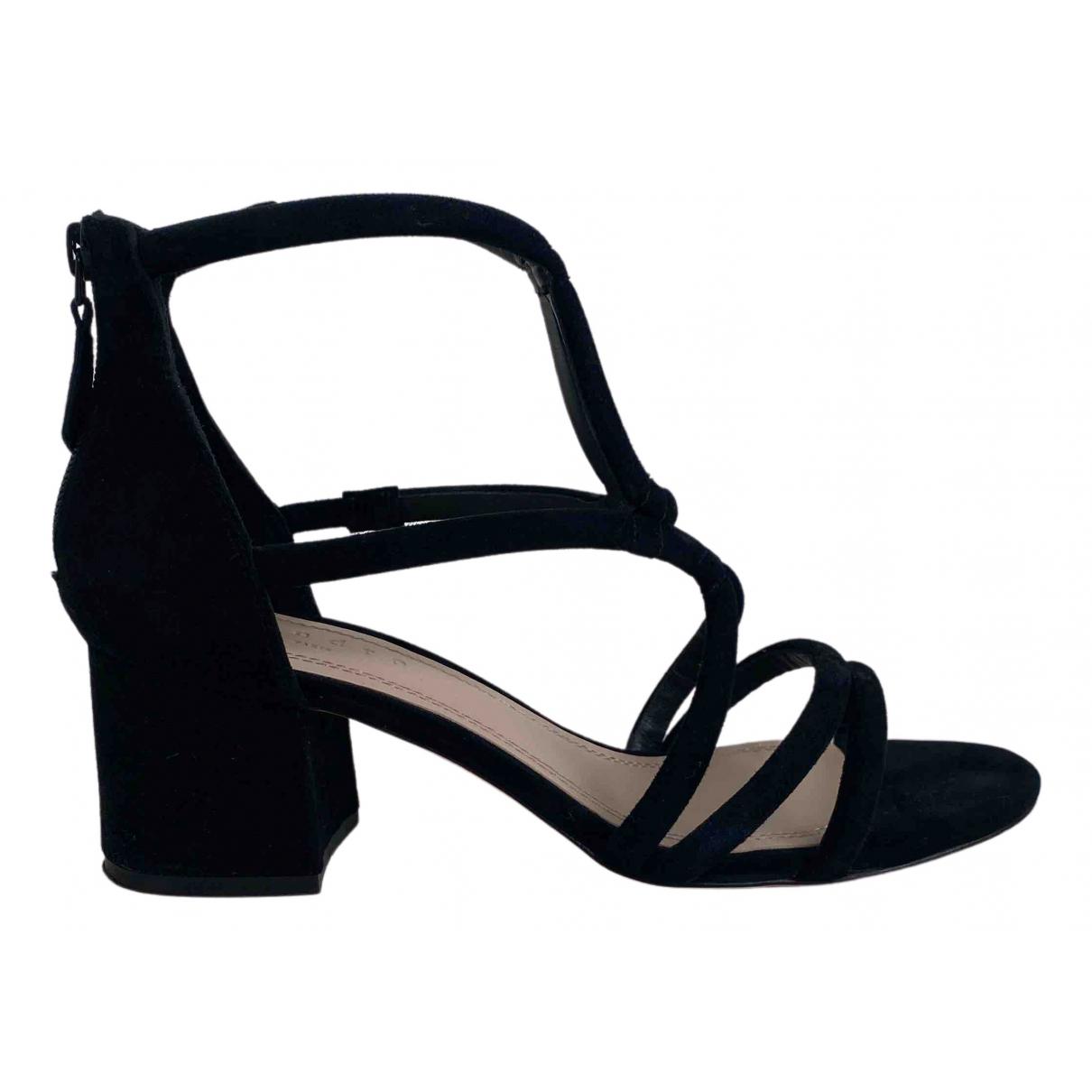 Sandro N Black Suede Sandals for Women 39 EU
