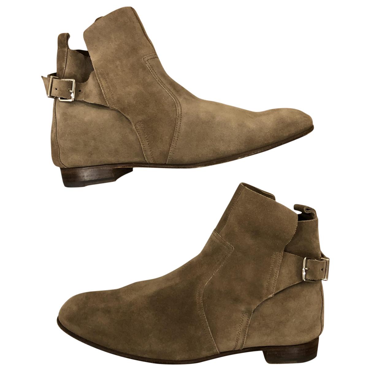 Hermès Néo Beige Suede Ankle boots for Women 38 EU