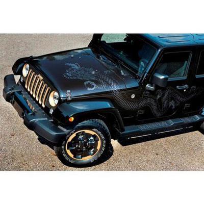 Jeep Driver Side Rear Door Dragon Decal (Silver) - 5PC95HA9AA