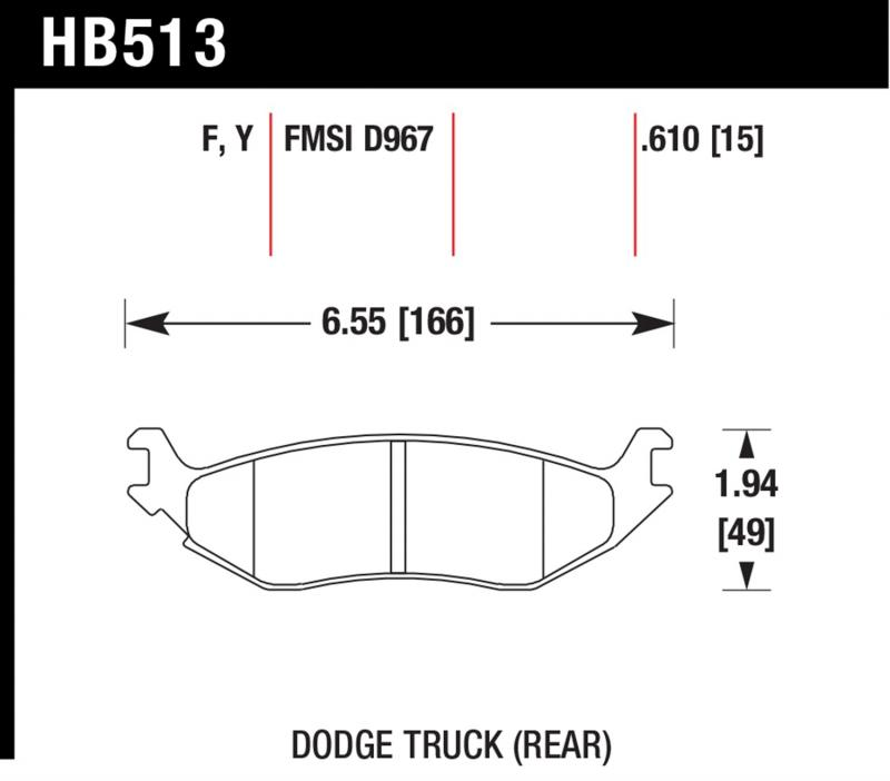 Hawk Performance HB513F.610 Disc Brake Pad Rear
