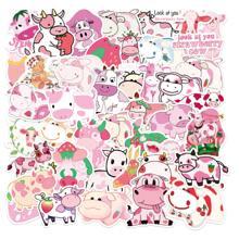 50pcs Cartoon Cow Print Sticker