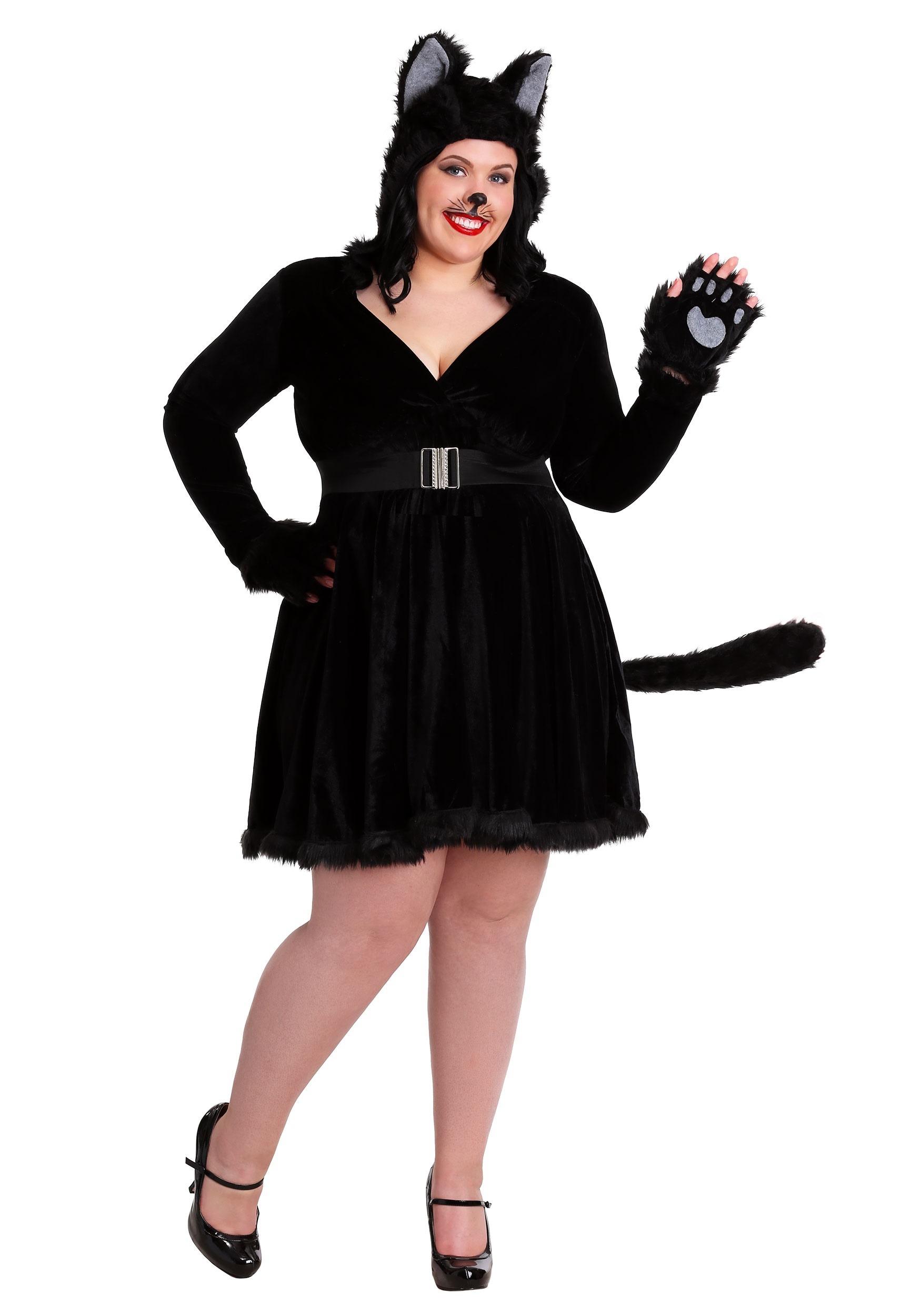 Black Cat Plus Size Costume for Women