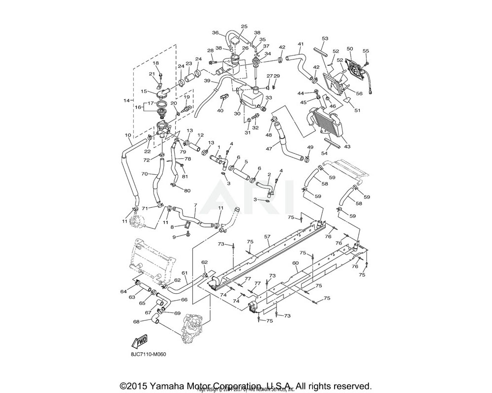 Yamaha OEM 90450-32002-00 HOSE CLAMP ASSY
