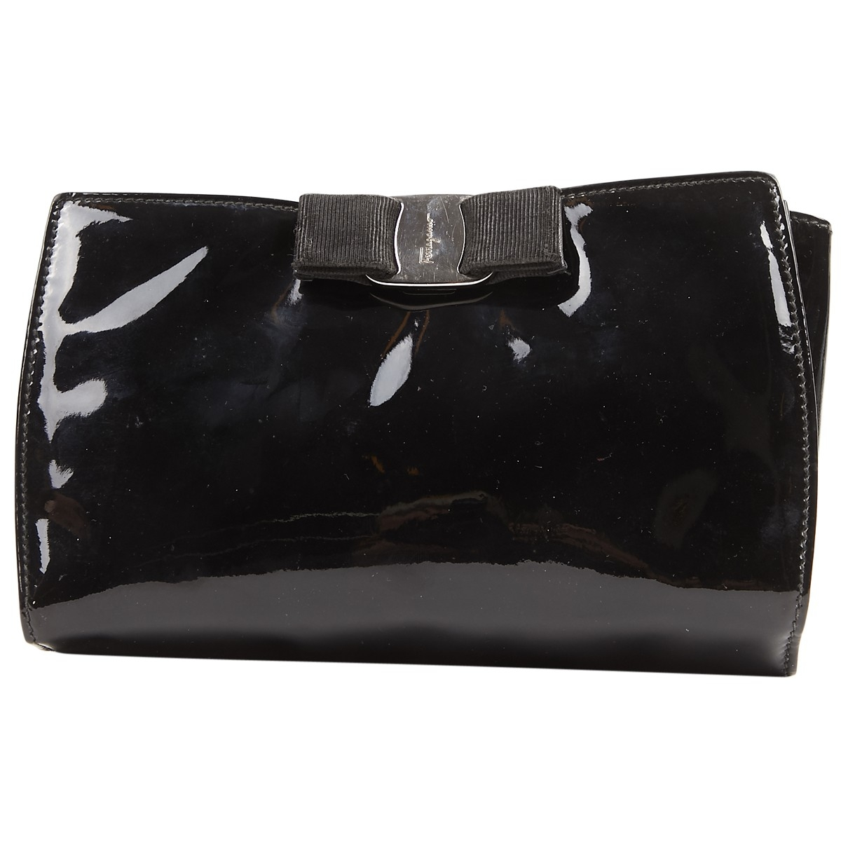 Salvatore Ferragamo \N Black Patent leather Clutch bag for Women \N