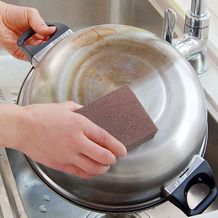 Kitchen Nano Emery Sponge Wipe Scale Cleaning Sponge In addition to Rust Decontamination Sponge