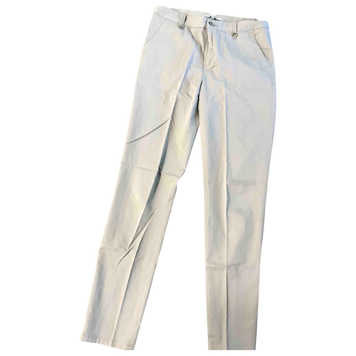 Gerard Darel \N Beige Cotton Trousers for Women 36 FR