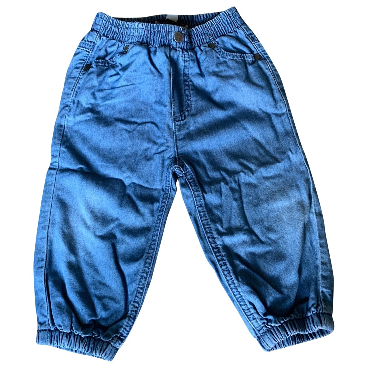 Stella Mccartney Kids \N Blue Cotton Trousers for Kids 12 months - up to 74cm FR