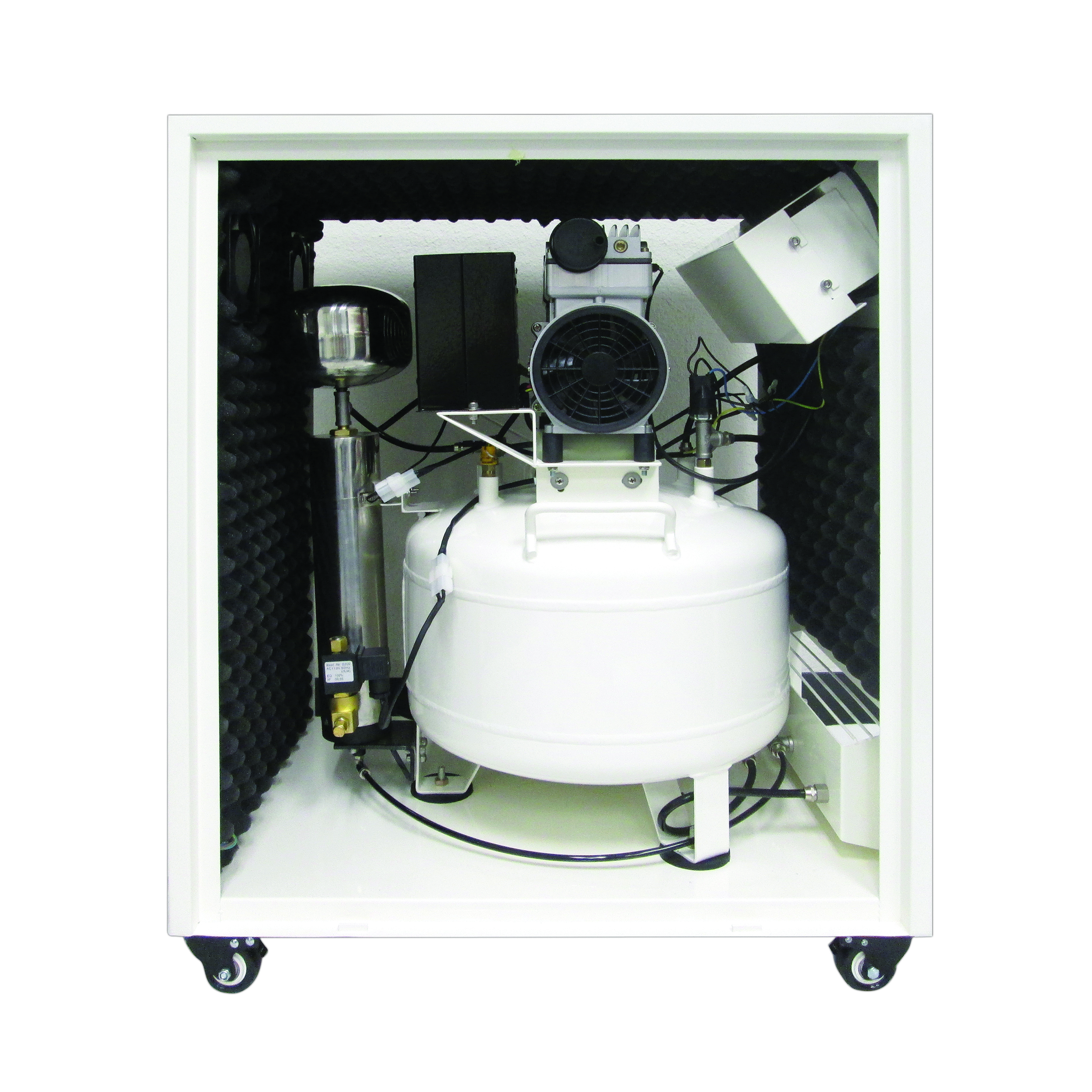 8010SPC Ultra Quiet 8 Gal. Air Compressor in Sound Proof Cabinet