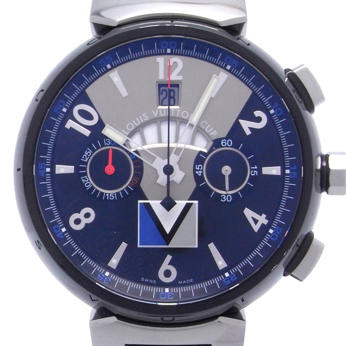 Louis Vuitton Tambour Silver Steel watch for Men \N