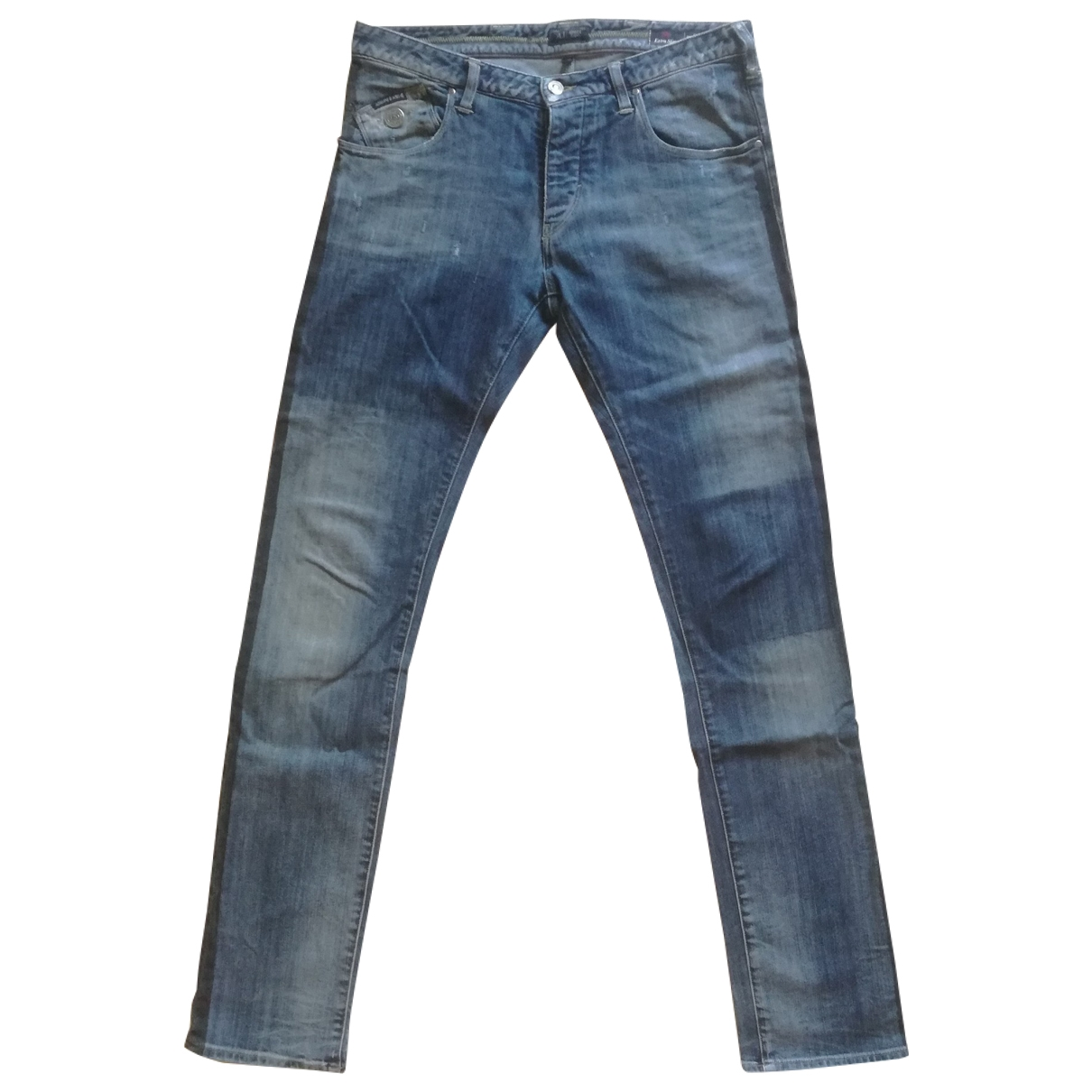 Armani Jeans \N Blue Cotton Jeans for Men 30 US