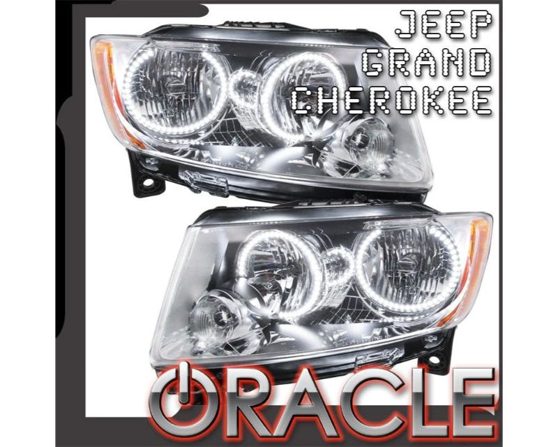 Oracle Lighting 7070-004 Pre-Assembled Headlights - Non HID - Chrome Green JEEP Grand Cherokee 2011-2013