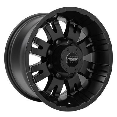 Pro Comp Series 5001, 17x9 Wheel with 8 on 170 Bolt Pattern - Satin Black - 5001-7970