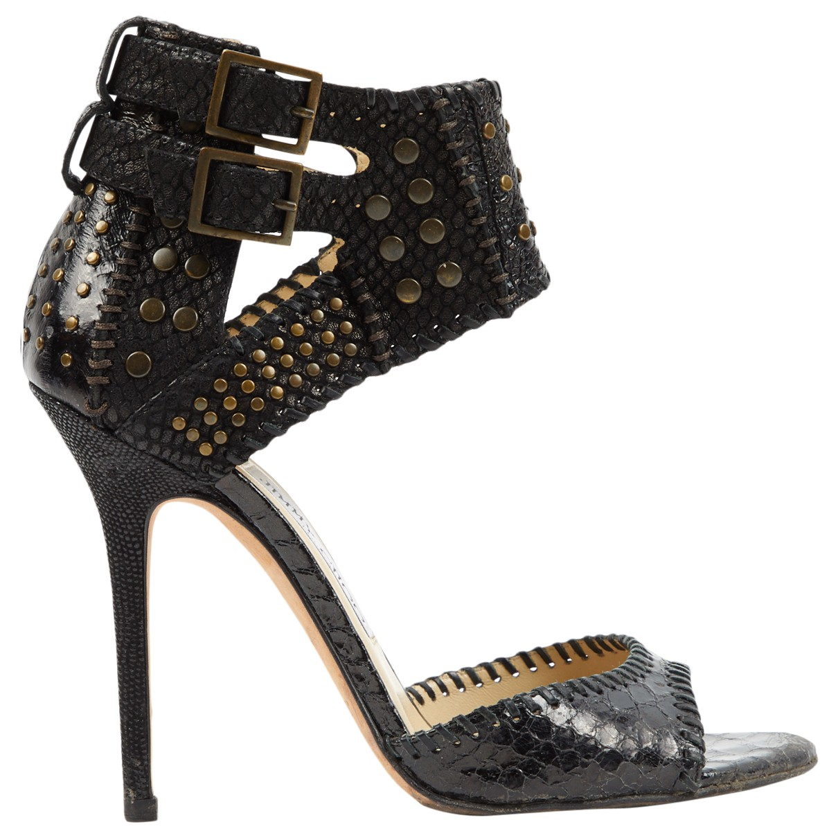 Jimmy Choo \N Black Leather Sandals for Women 38 EU