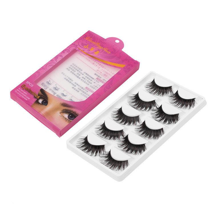 Double Layer False Eyelashes Set3D Mink Lashes Thick Handmade Fake Eyelashes Eye Makeup Cosmetic