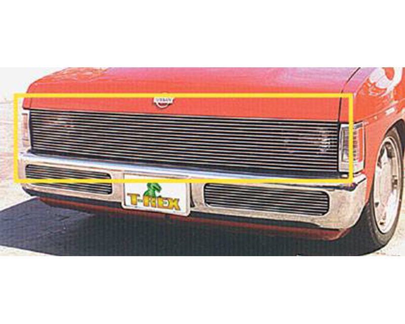 1986-1997 Nissan Hardbody Billet Phantom Grille, Polished, 1 Pc, Insert - PN #20771