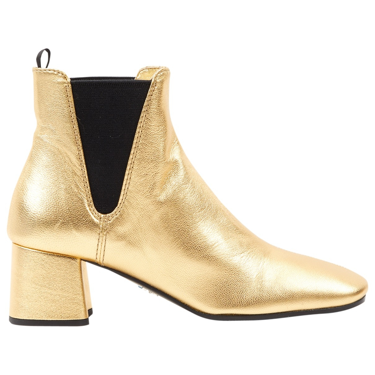 Prada \N Gold Leather Ankle boots for Women 35 EU