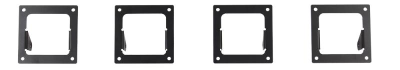 Go Rhino 5943003T SRM100 Side Plates - Four 3 Cube Rigid Lights