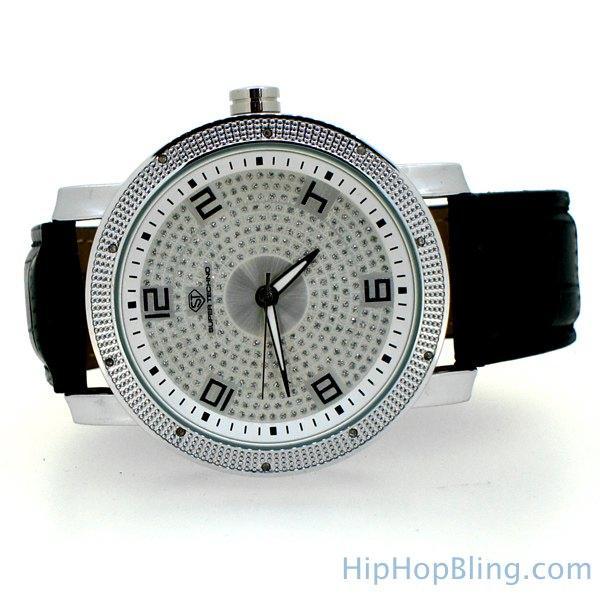 Genuine Diamond Watch Super Techno Bling Bling
