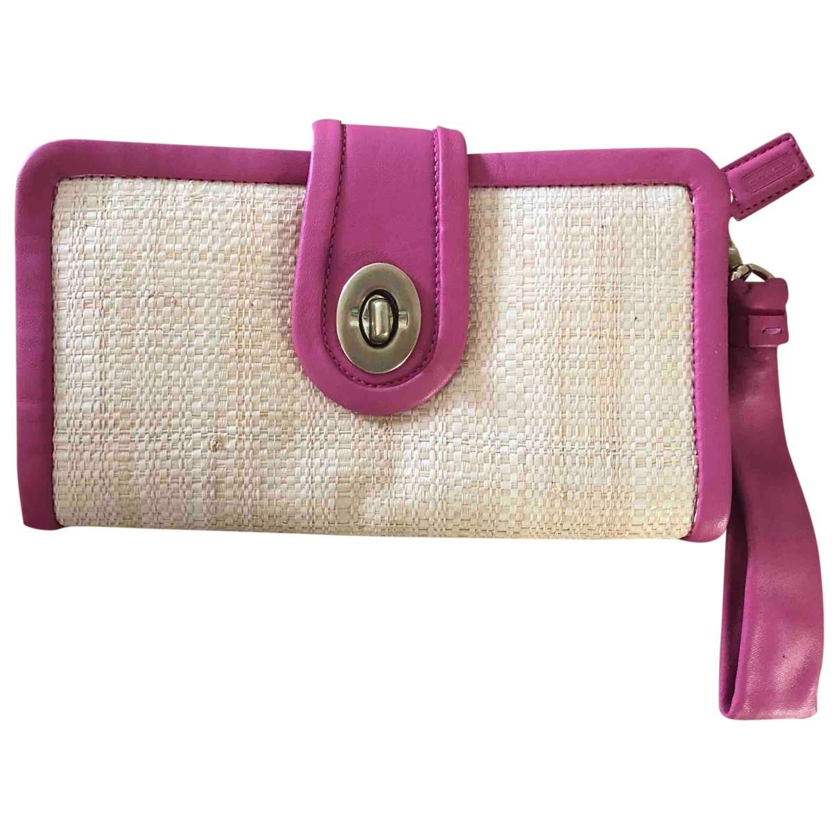 Coach \N Pink Wicker Clutch bag for Women \N