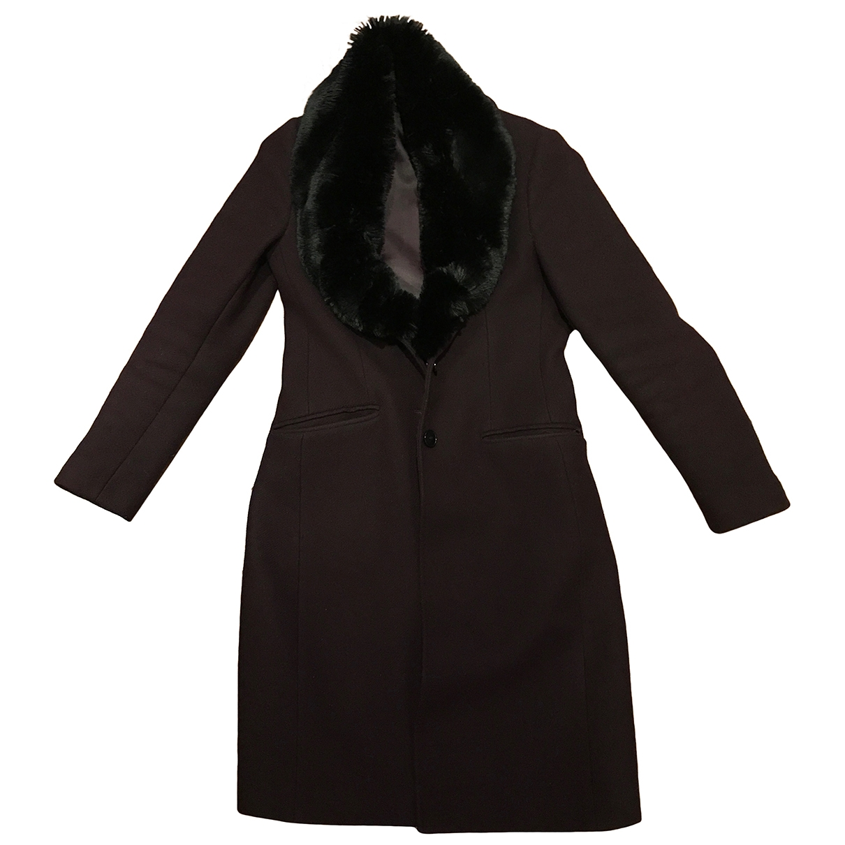 Jigsaw \N Purple Wool coat for Women 8 UK