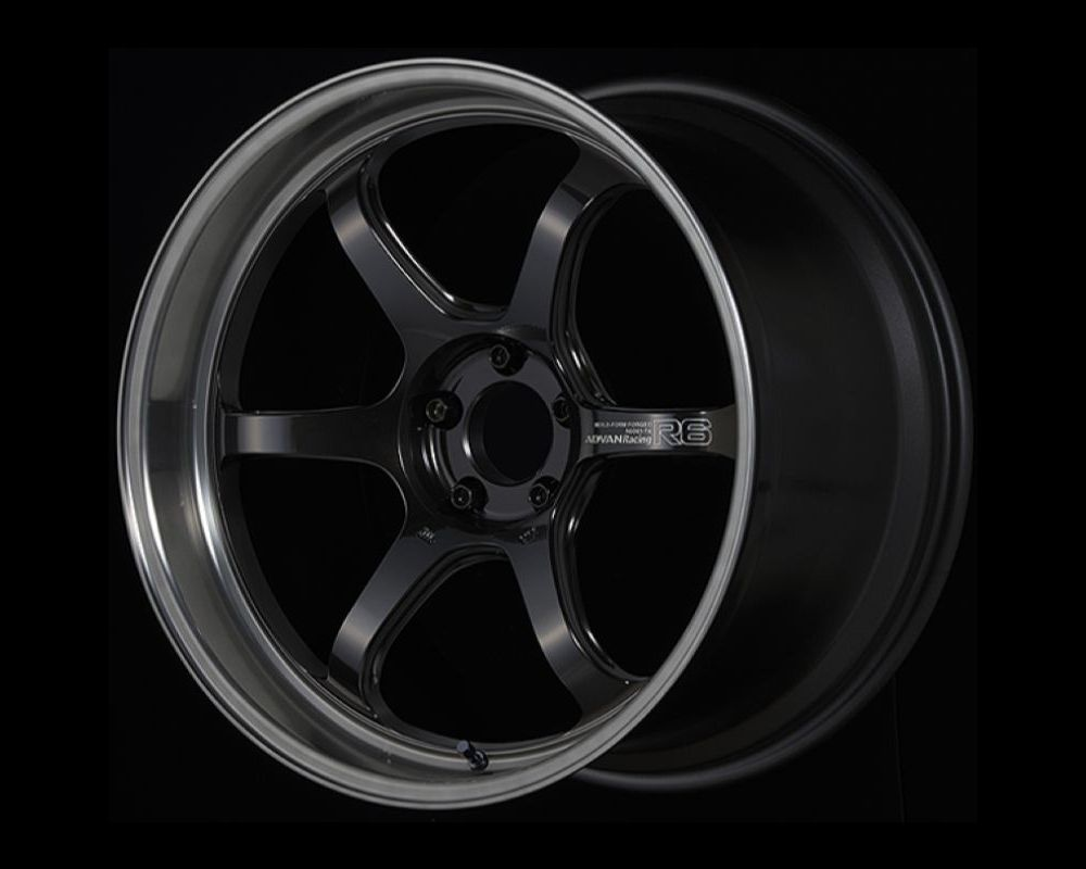Advan R6 Wheel 20x12 5x114.3 20mm Machining & Black Coated Graphite