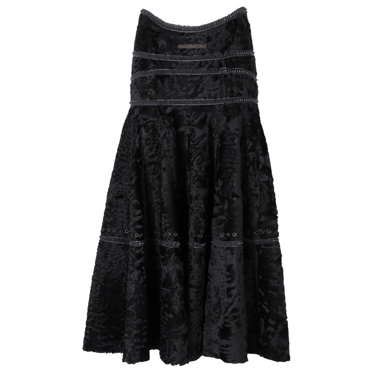 Gianfranco Ferré \N Black Astrakhan skirt for Women 42 IT