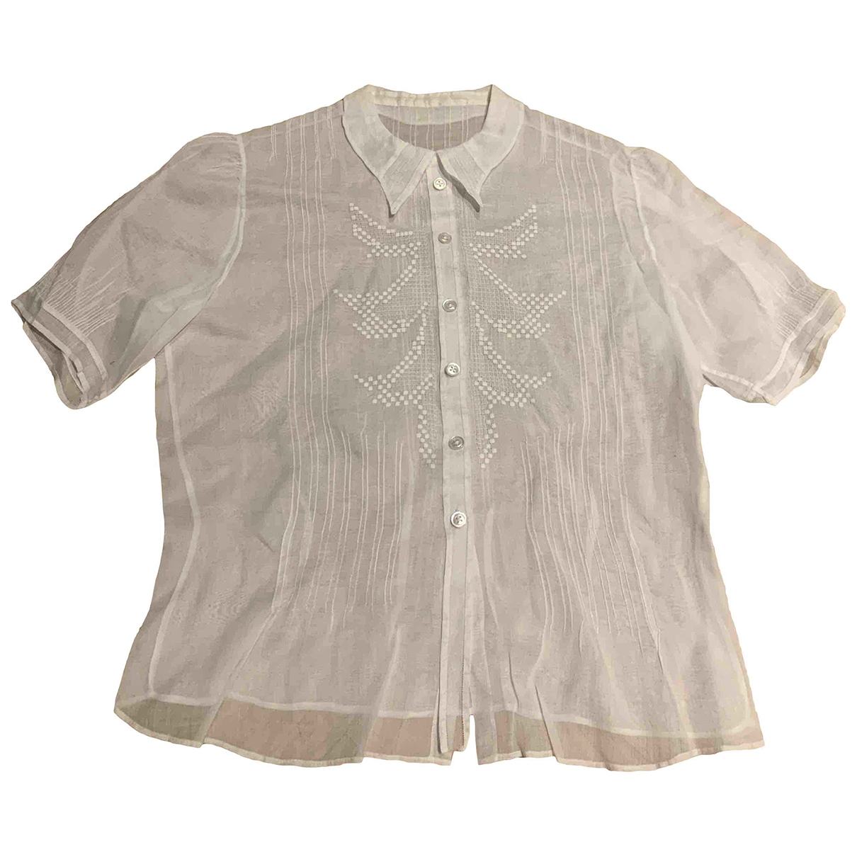 Non Sign?? / Unsigned \N White Cotton  top for Women S International