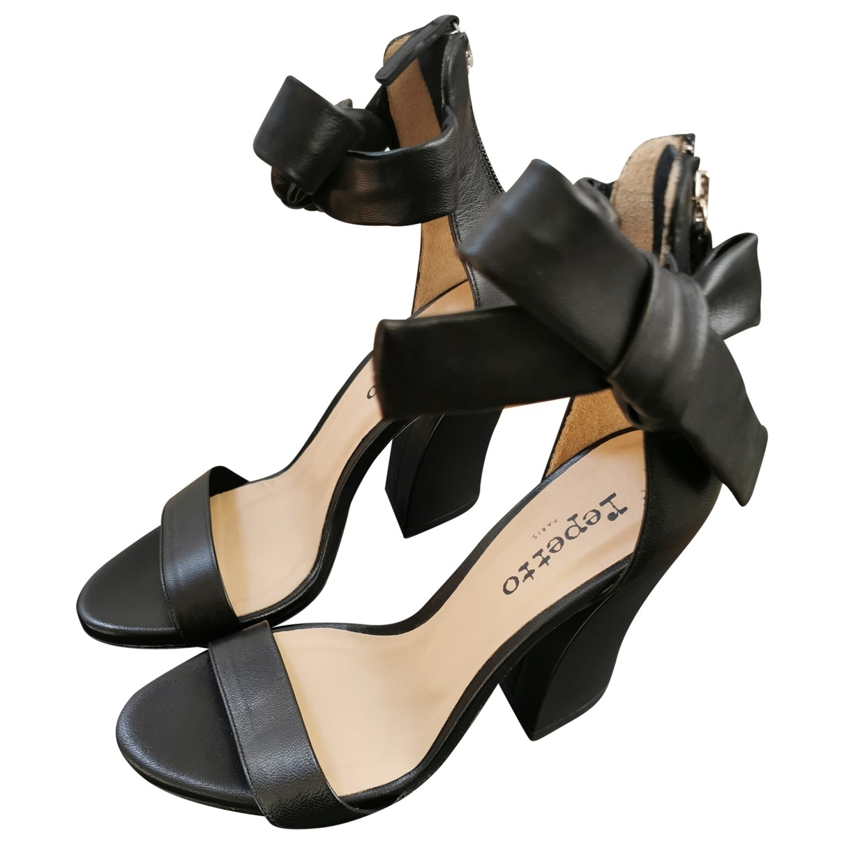 Repetto \N Black Leather Sandals for Women 39 EU