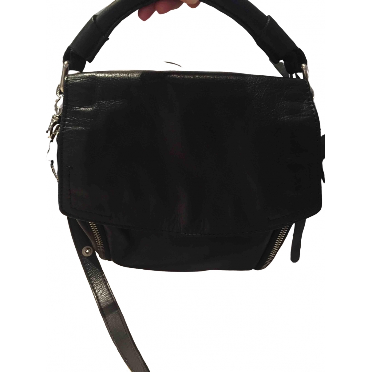 Zara \N Black Leather handbag for Women \N