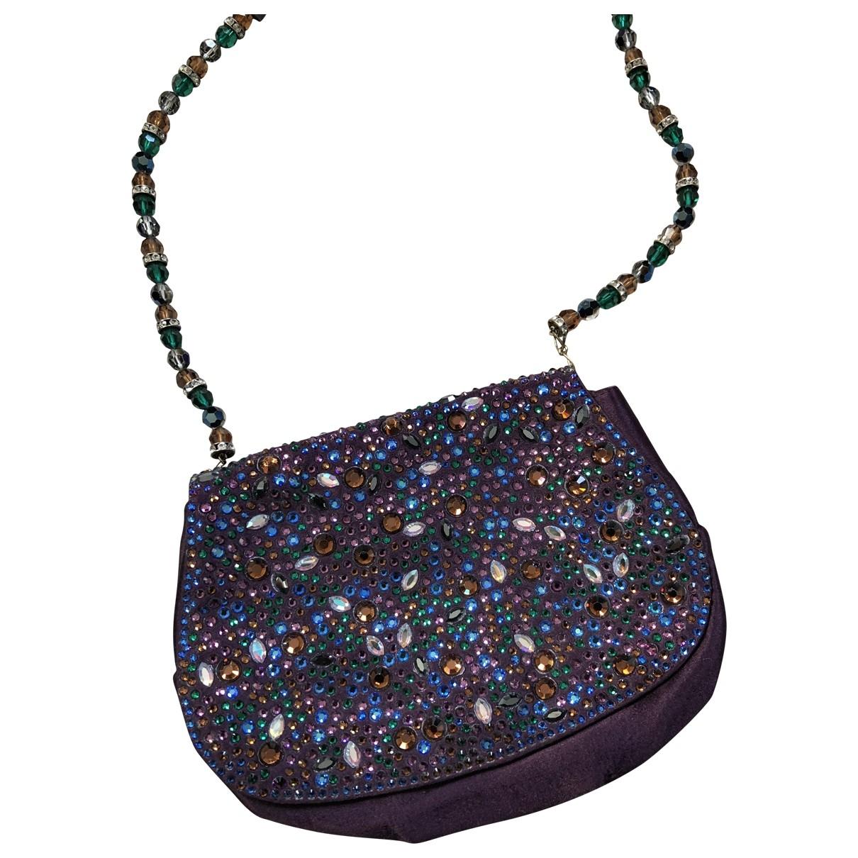 Gina \N Purple Silk Clutch bag for Women \N