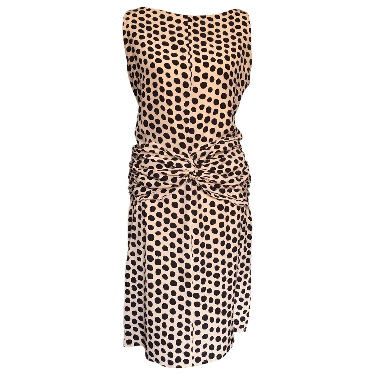 Valentino Garavani \N Ecru Silk dress for Women 42 IT