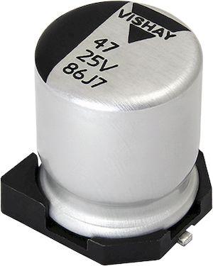 Vishay 22μF Polymer Capacitor 50V dc, Surface Mount - MAL218697104E3 (500)